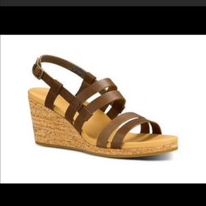 Teva brown strapped wedge sandals. Size 8.5